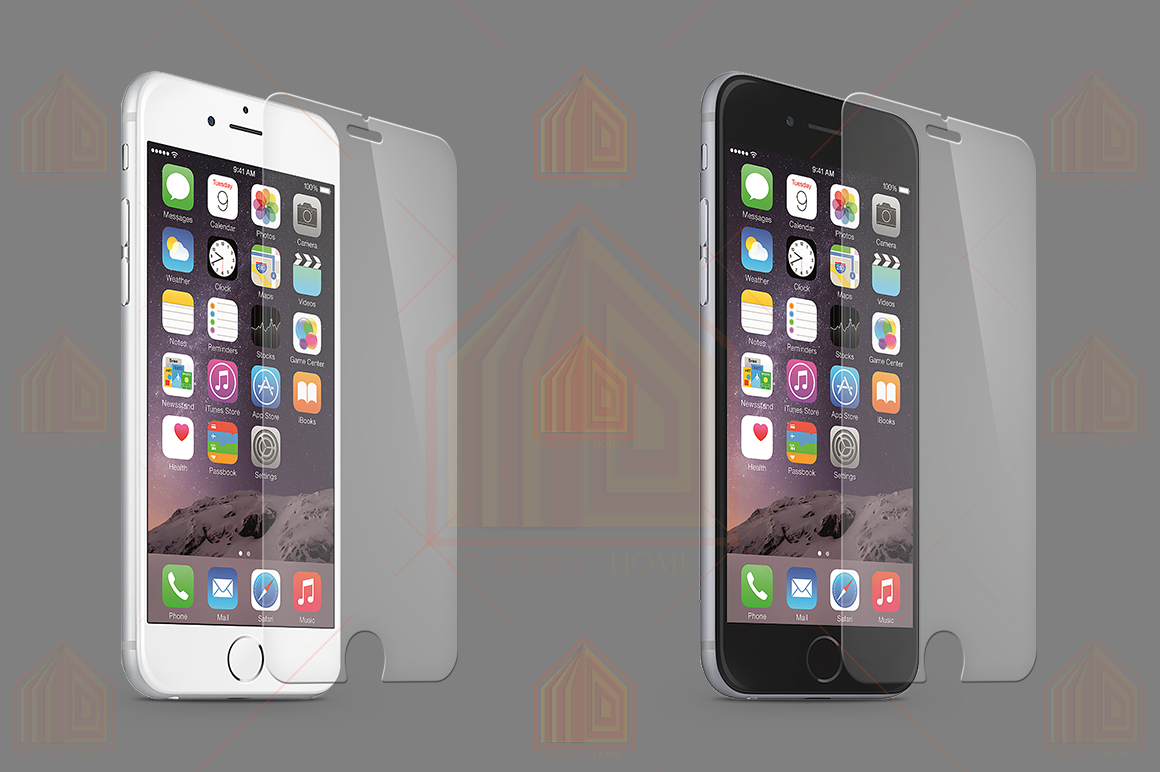 iPhone 6-6s Tempered Glass Template  example image 4