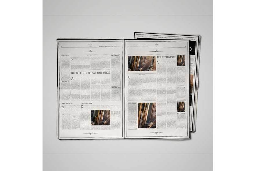 A3 Newspaper Template example image 3
