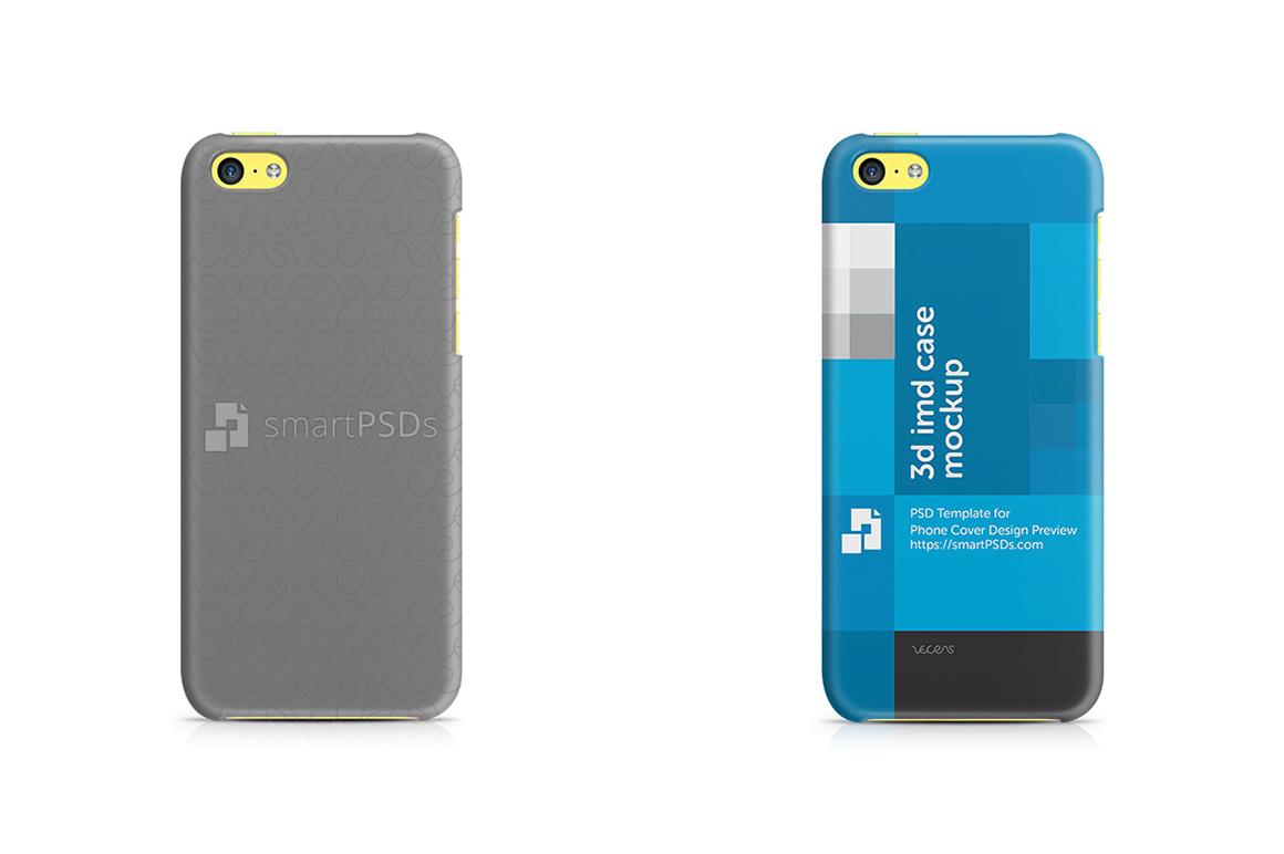 Apple iPhone 5C 3d IMD Mobile Case Design Mockup 2013 example image 1