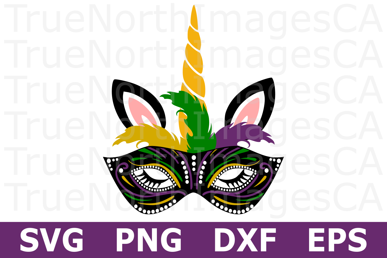 Mardi Gras Unicorn - A Mardi Gras SVG Cut File example image 1