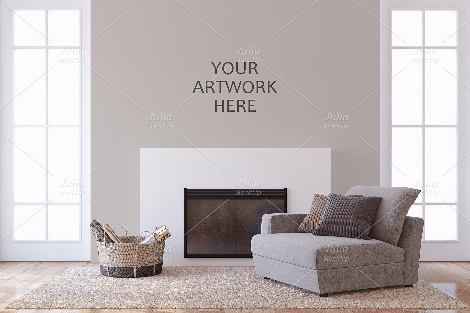 Men's Interior. Wall&Frames Mockup. example image 7