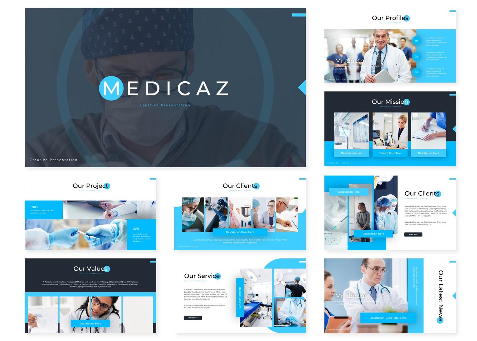 Medicaz | Powerpoint, Keynote, GoogleSlides Template example image 4