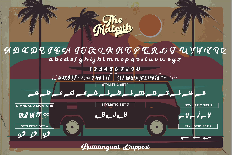 The Matesih bold script example image 6