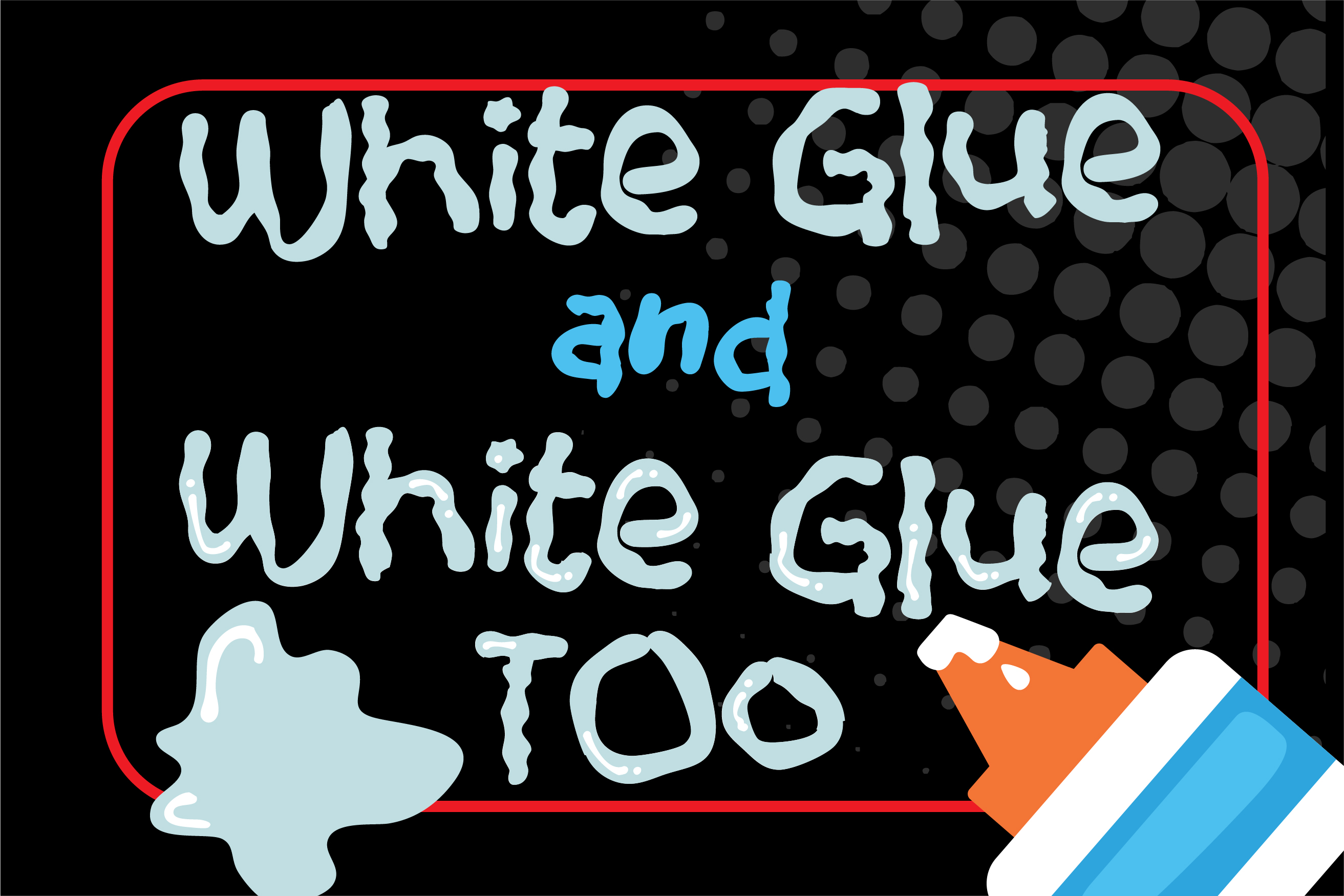 ZP White Glue Font Duo example image 1