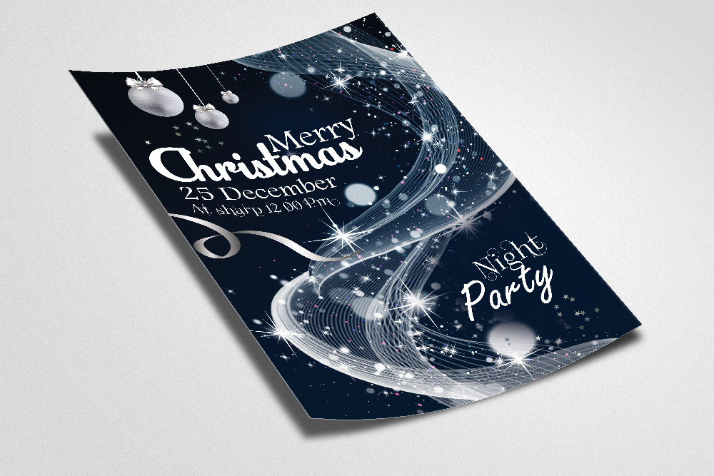 Christmas Greeting Flyer/Poster Template example image 2