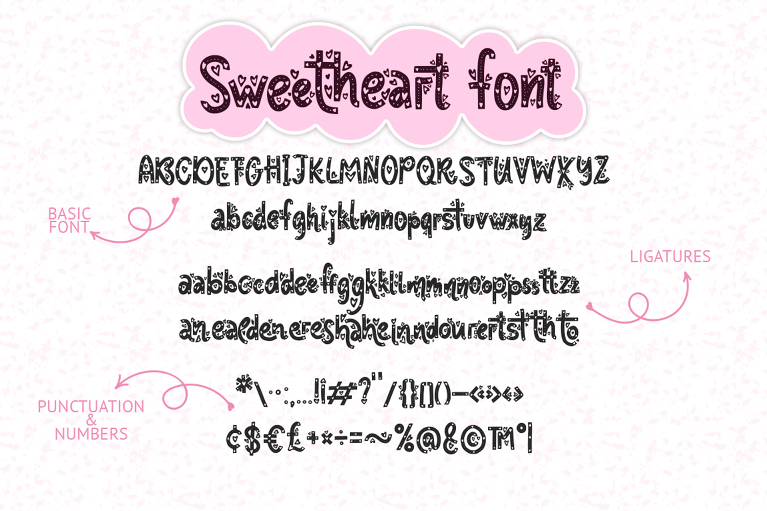 Sweetheart font family example image 12