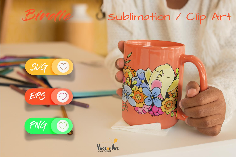 The cute Birdie - Sublimation / Clip Art example image 3