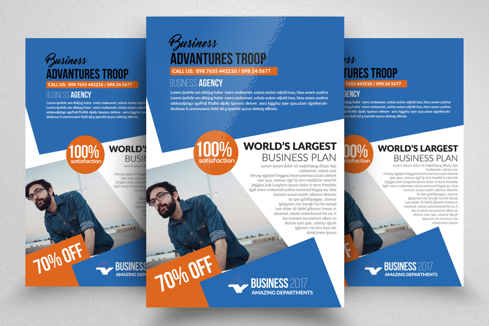 10 Corporate Psd Flyer Templates Bundle example image 3