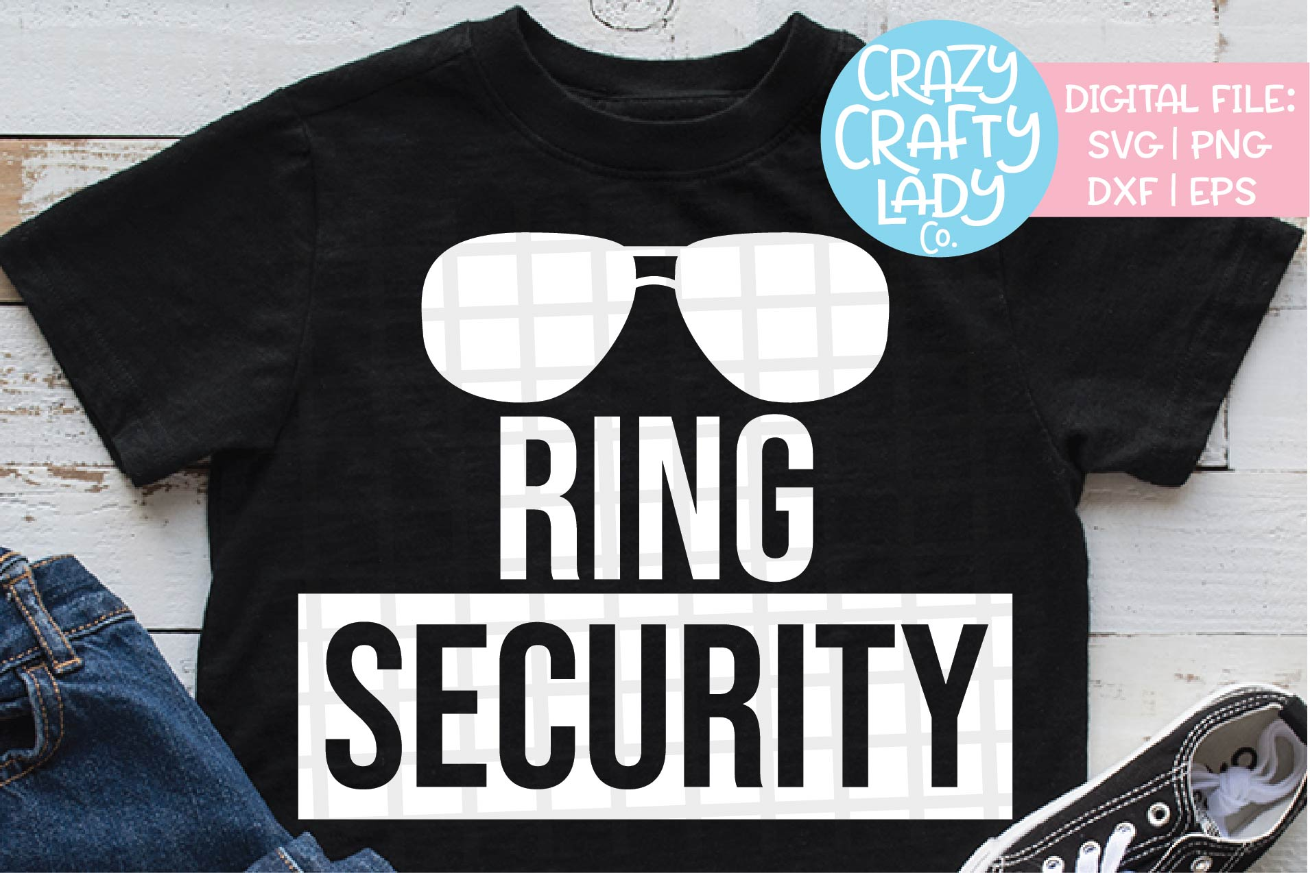 Ring Security SVG DXF EPS PNG Cut File example image 1