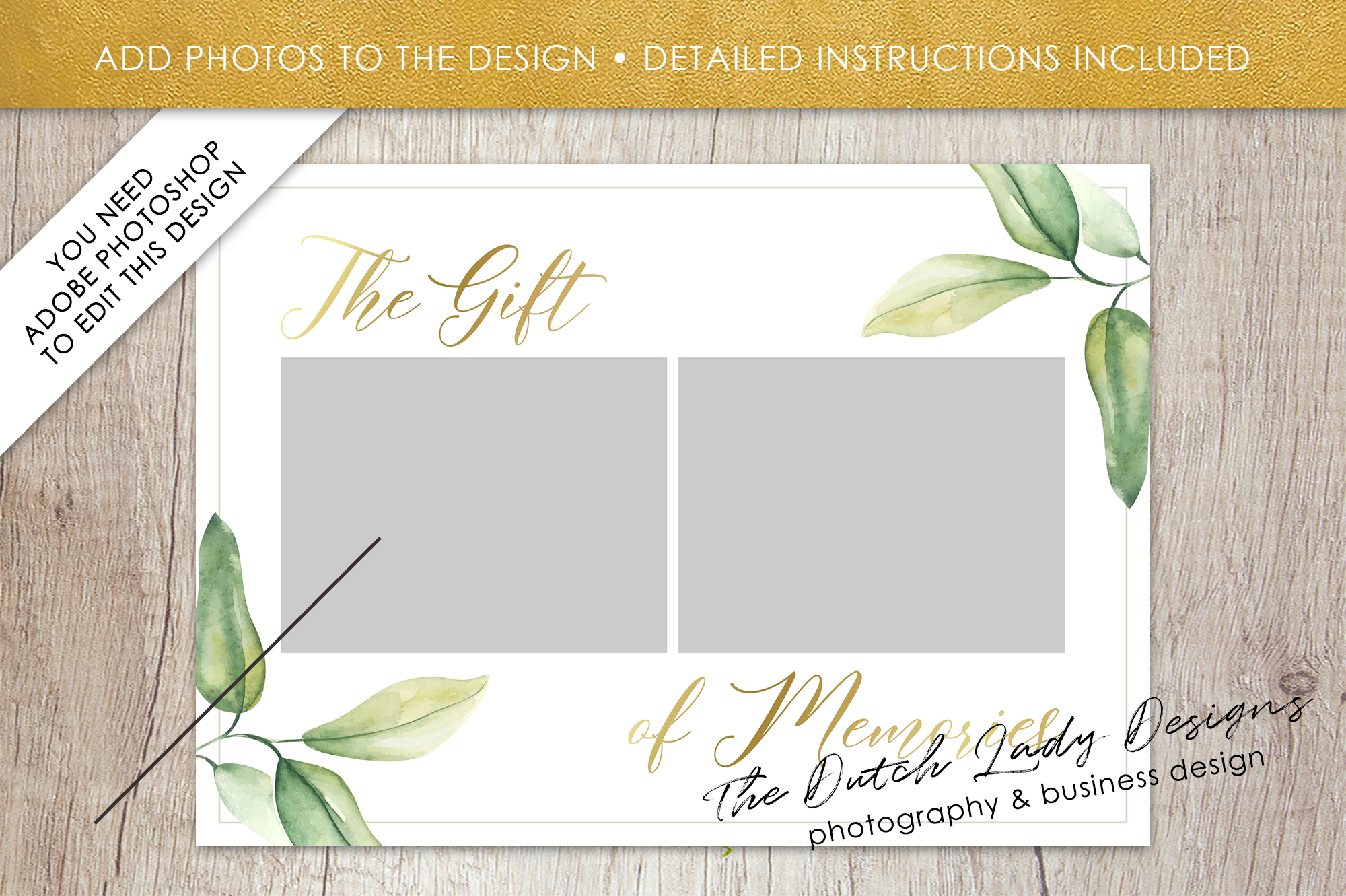 Photo Gift Card Template for Adobe Photoshop - #53 example image 3