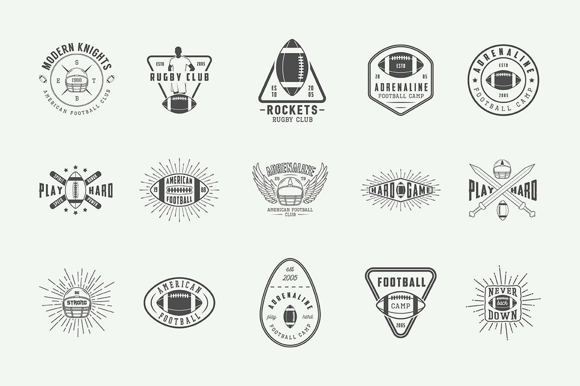 Football and Rugby Emblems Bundle example image 11