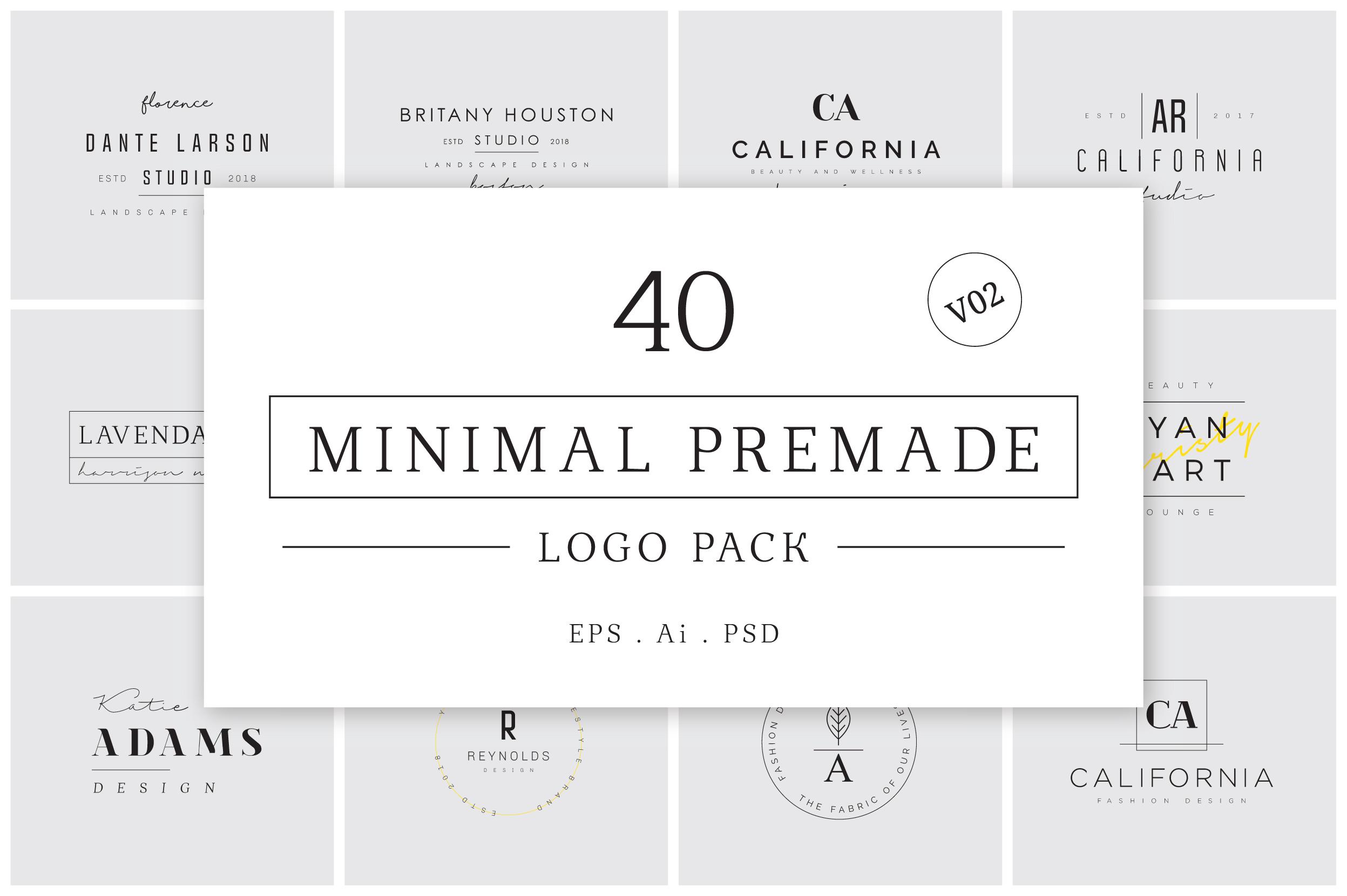 200 Minimal Premade Logo Bundle example image 7