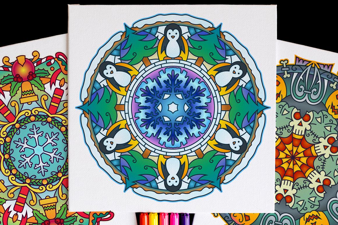 Seasonal and Holiday Mandalas example image 15