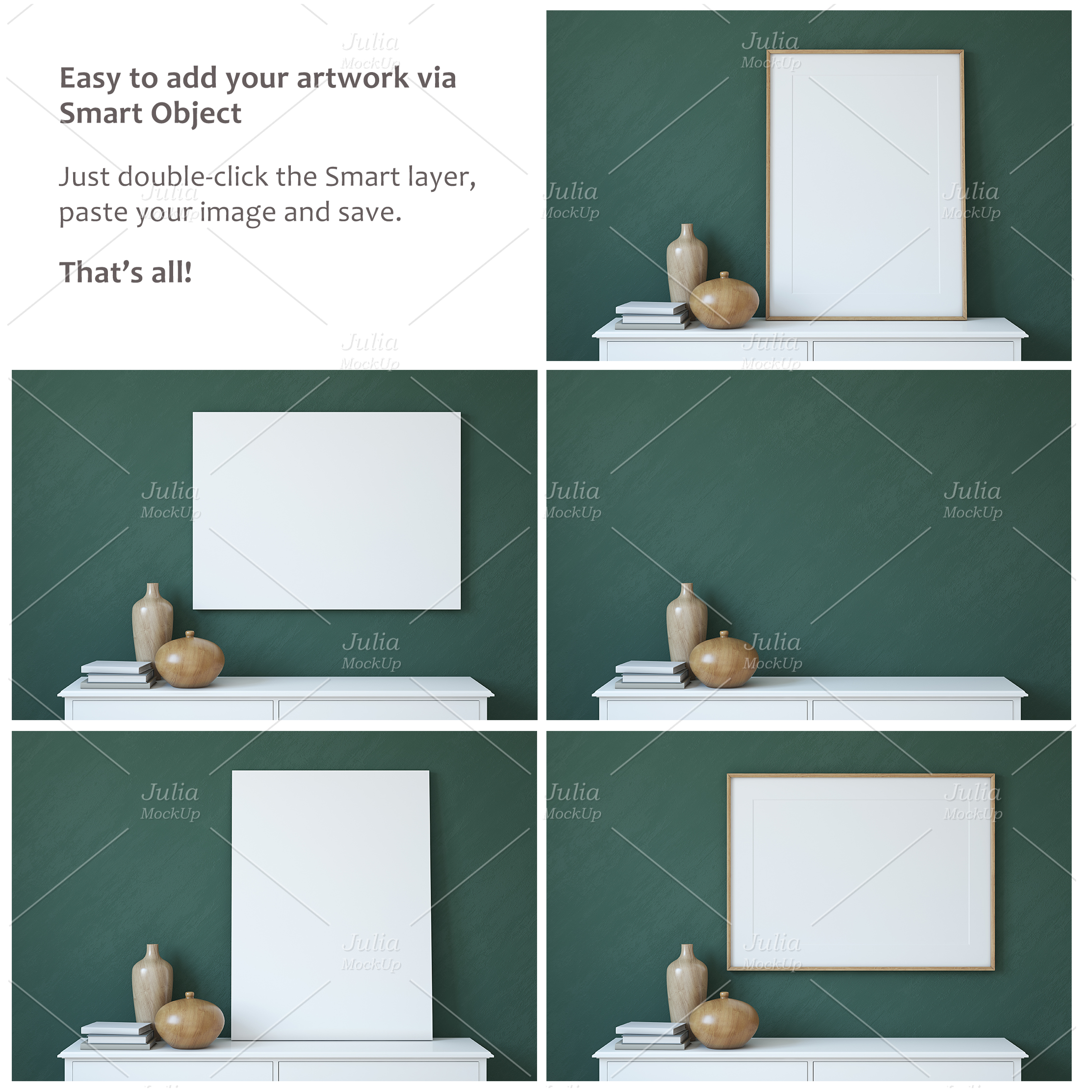 Frame&Canvas&Wall Decal Mock-ups. example image 4
