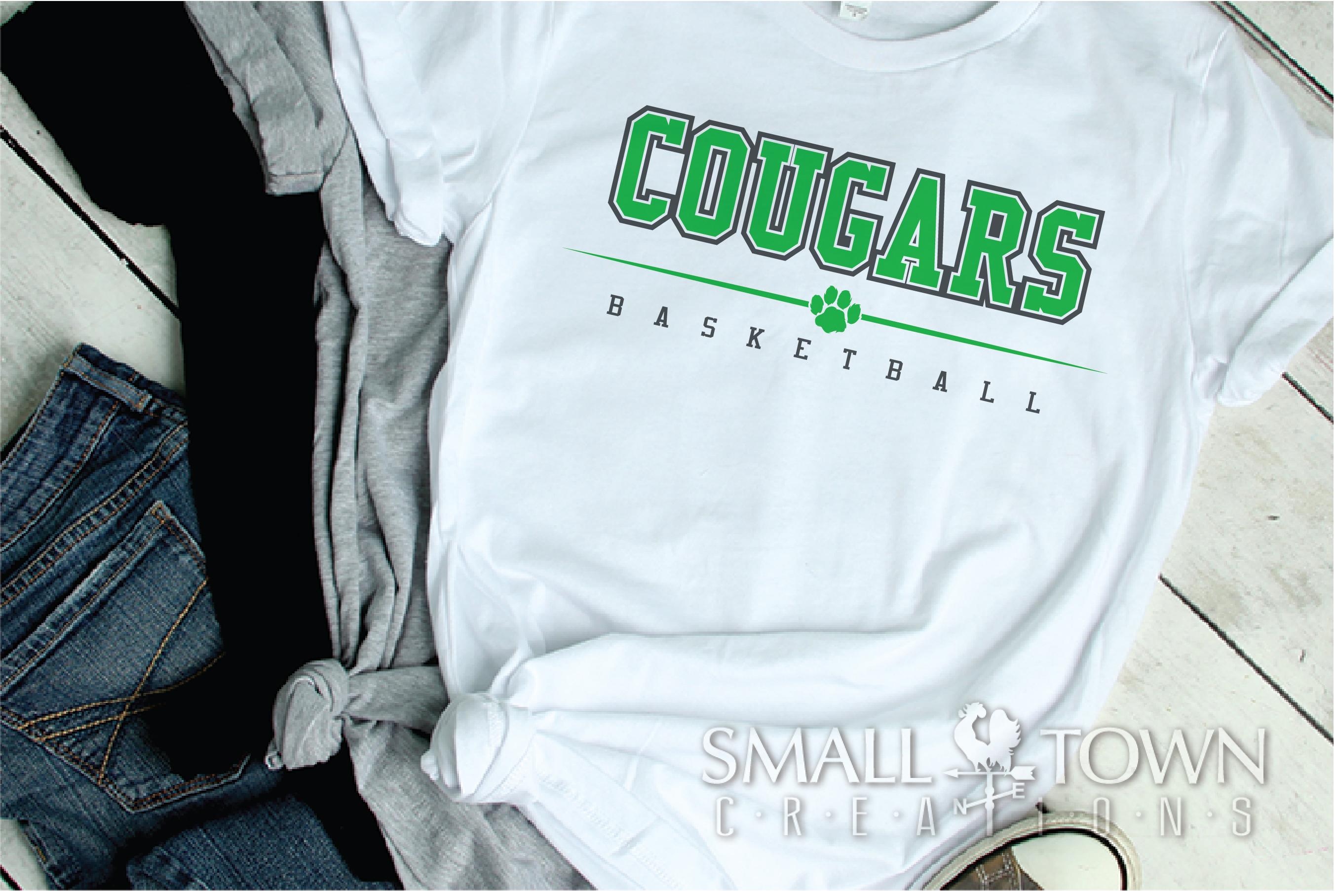 Cougar basketball, Cougars mascot, PRINT, CUT, DESIGN example image 2