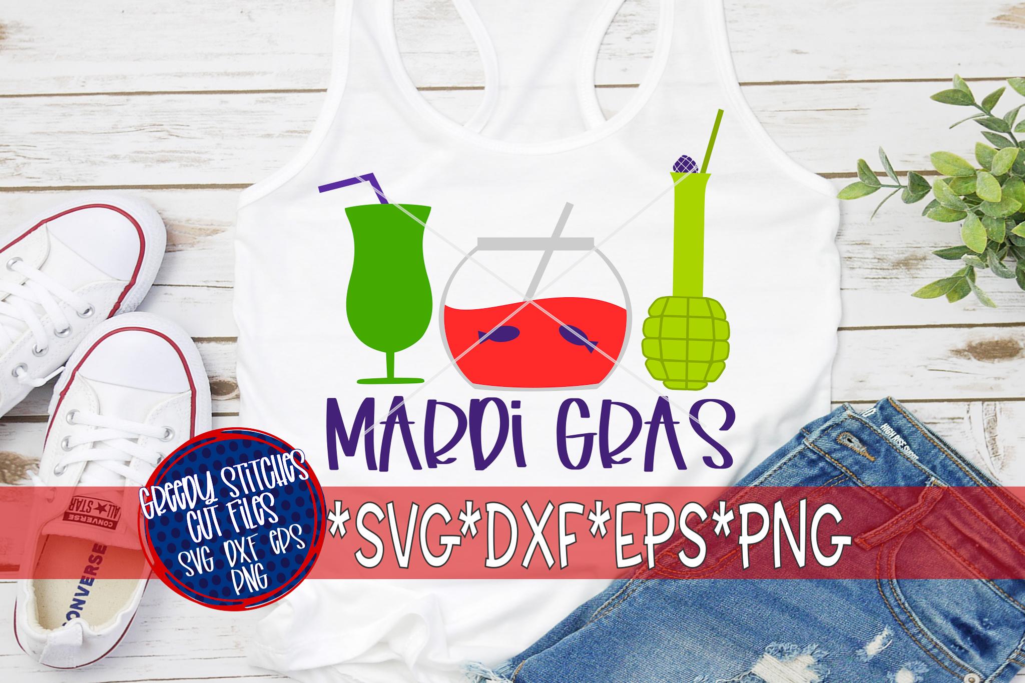 Mardi Gras |Mardi Gras Drinks SVG DXF EPS PNG example image 1