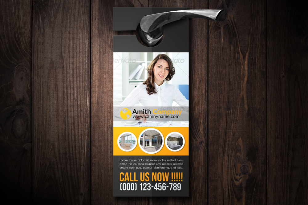 Personal Business Door Hangers example image 1