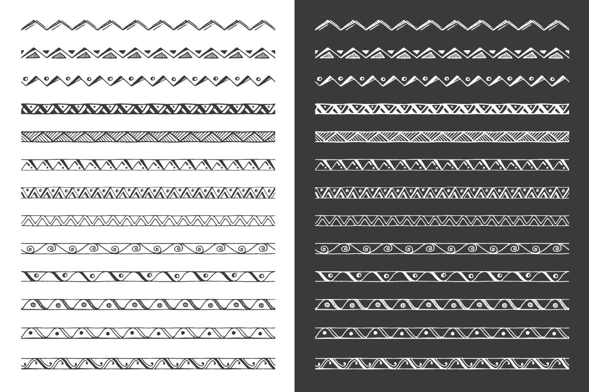 Hand Drawn Pattern Brushes Bundle - Volumes 01, 02 & 03 example image 3