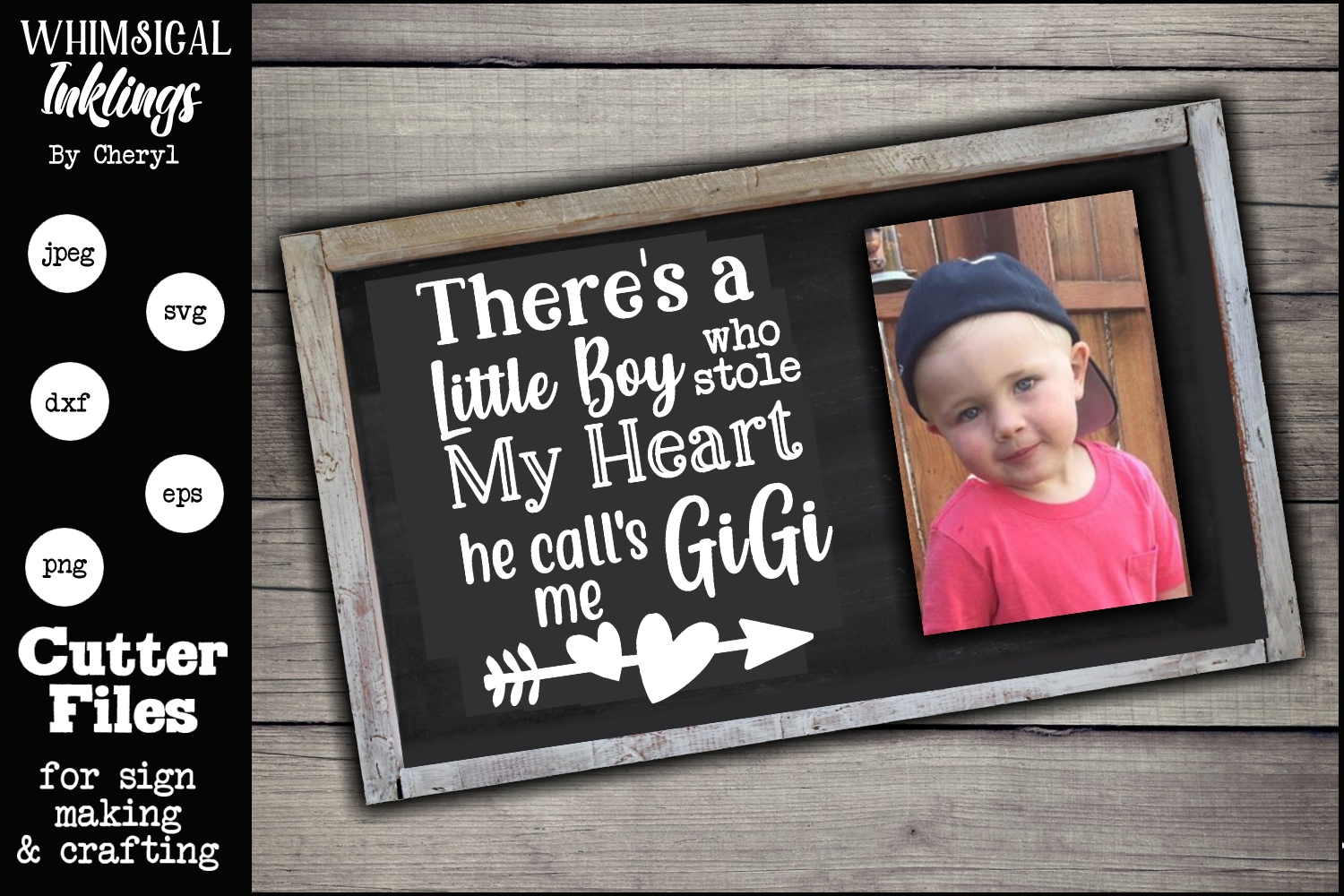 Theres a Little Boy-Gigi-SVG example image 1