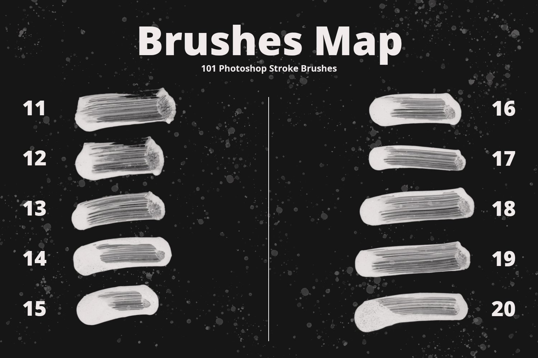 101 Photoshop Paint Stroke Brushes example image 4