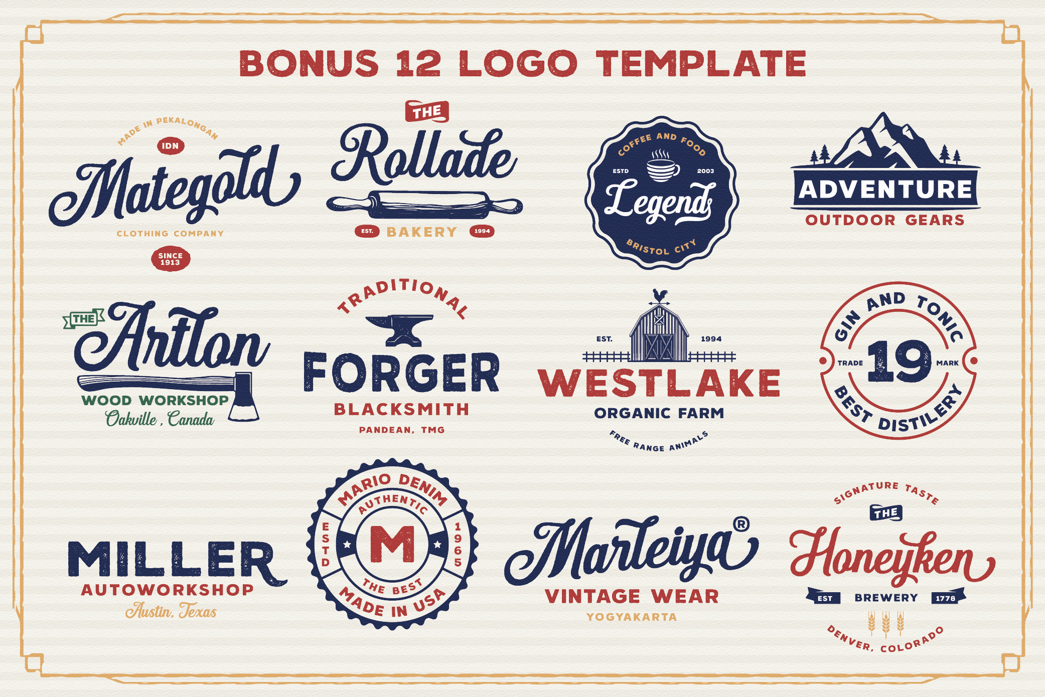 Hanleth Vintage Font Family example image 12