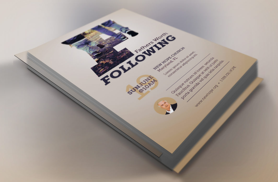 Fathers Worth Following Flyer Template example image 1