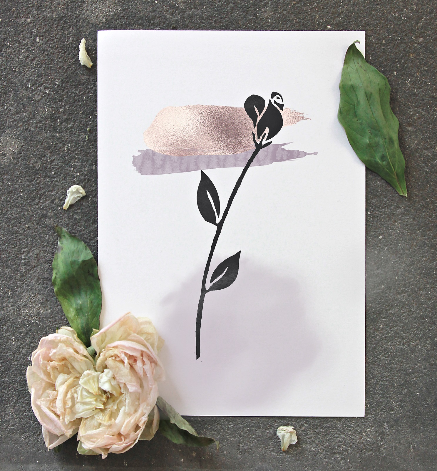 Misty Day - Watercolor Floral Design Bundle example image 6
