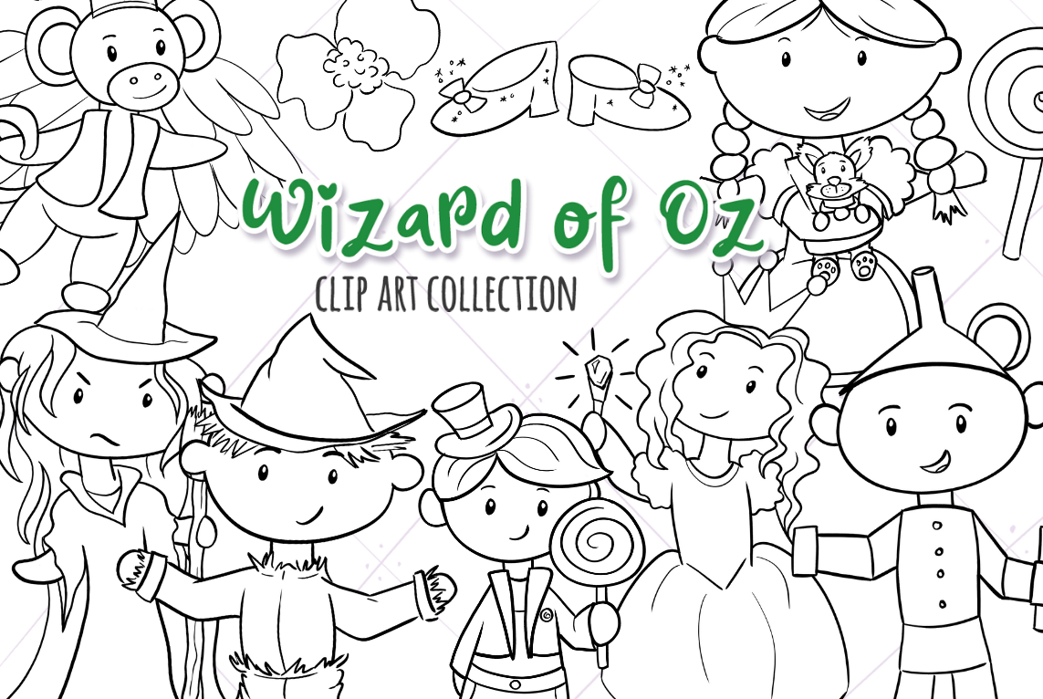 Oz Story Book Digital Stamps example image 1