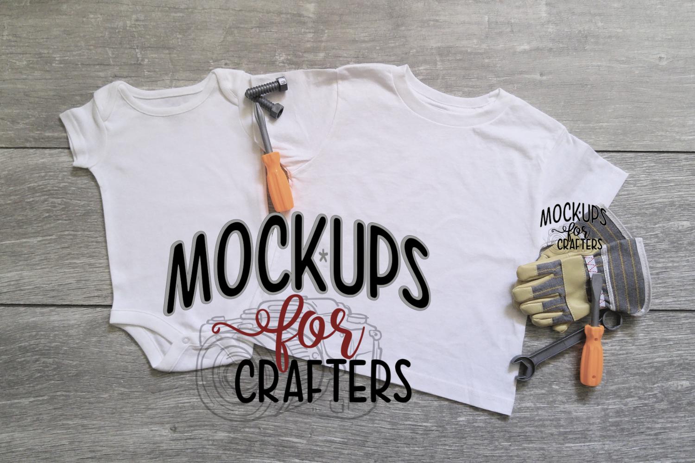 Baby 1pc & child's tshirt - DOLLARAMA TOOLS/GLOVES - MOCKUP example image 1
