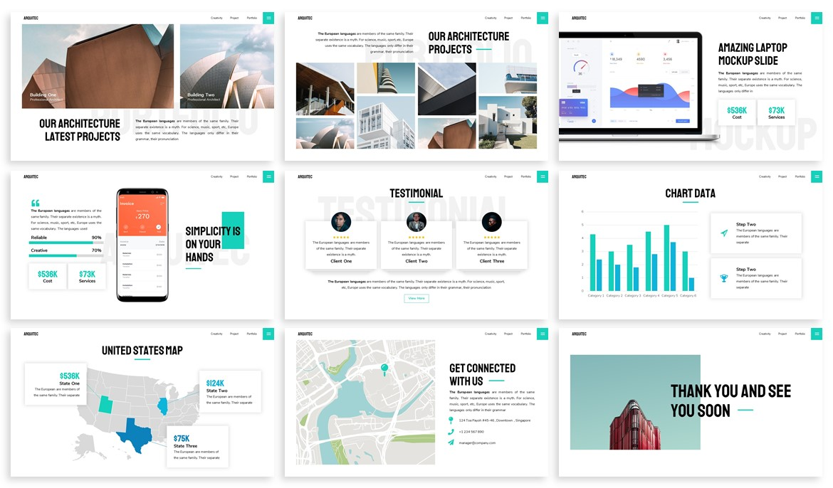 Arquitec - Architecture Powerpoint Template example image 4