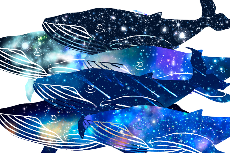 Galaxy whales clipart example image 2