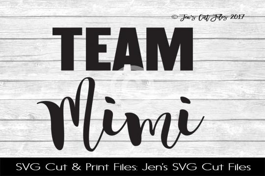 Team Mimi SVG Cut File example image 1