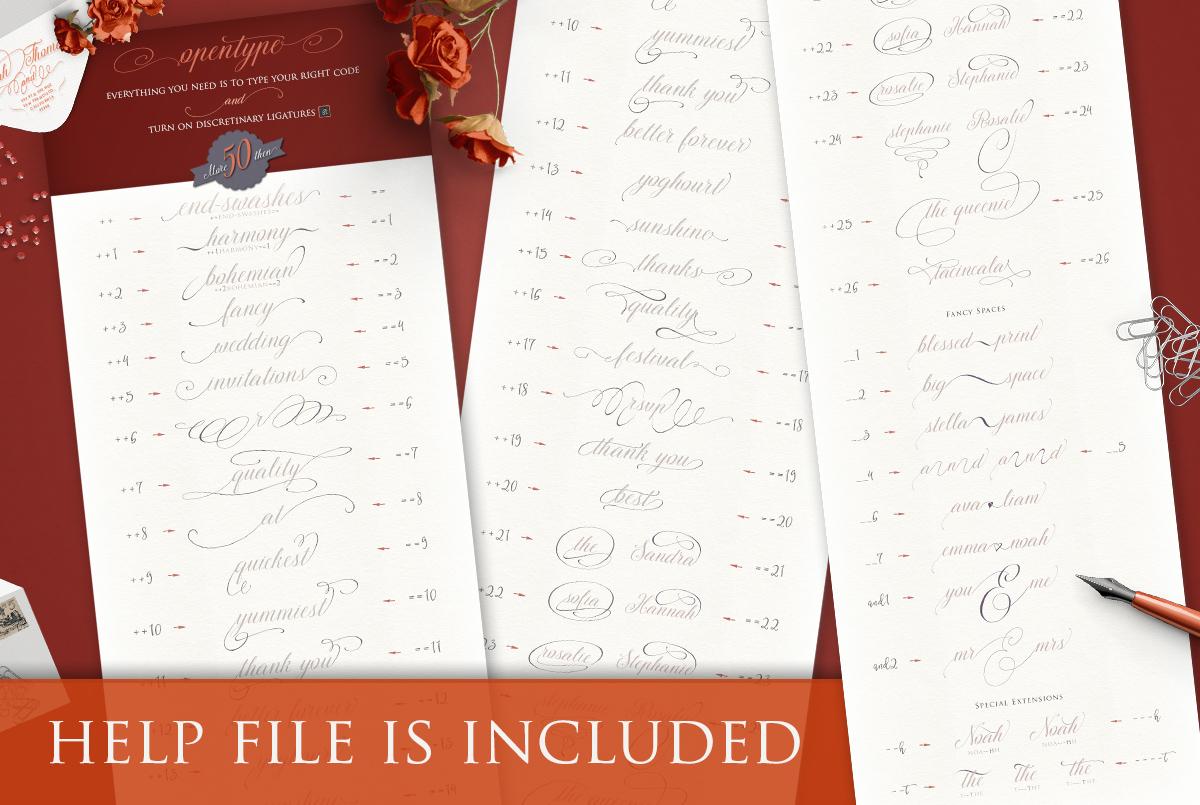 TheSecret Luxury Calligraphy Script example image 6
