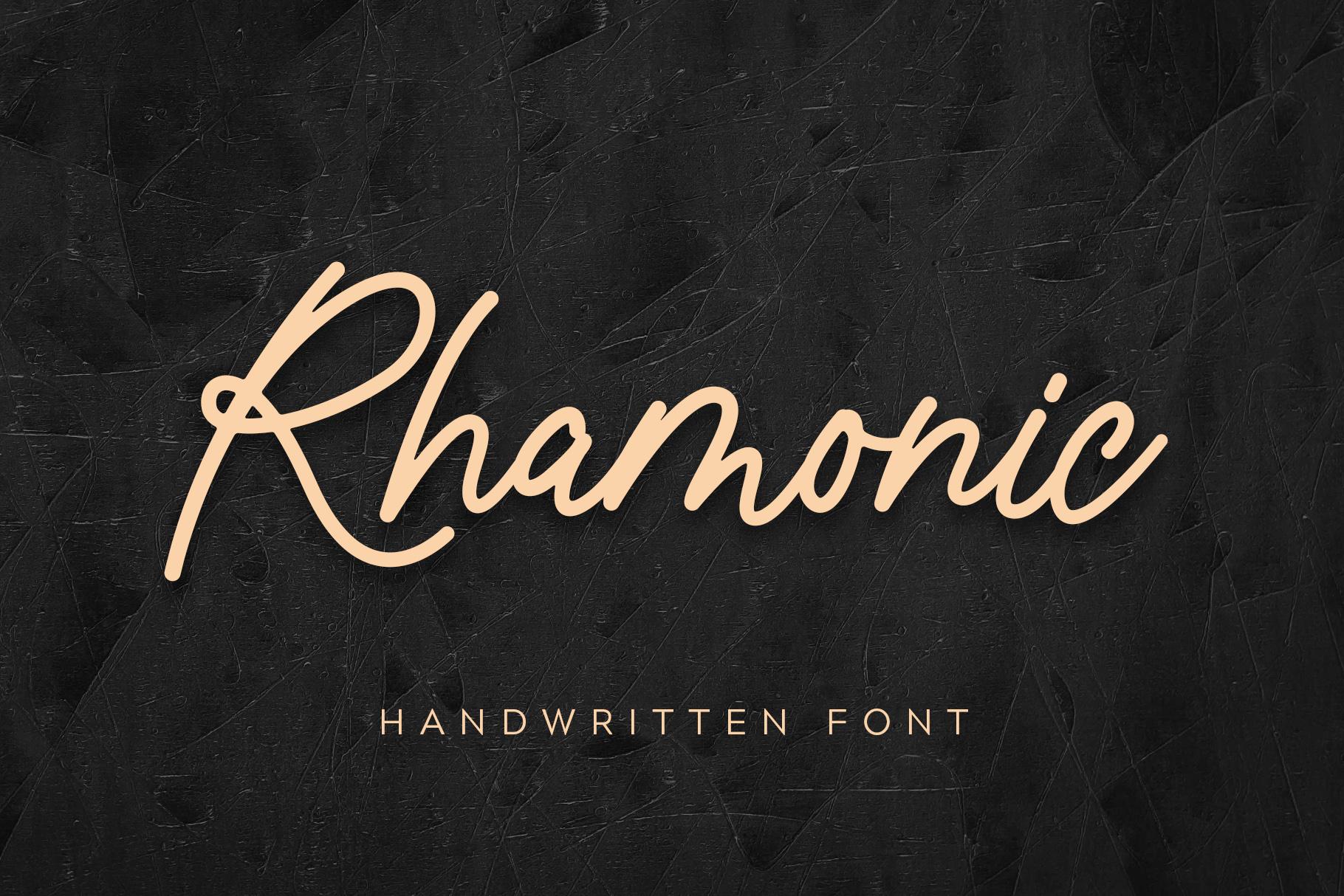 Rhamonic Handwritten Font example image 1