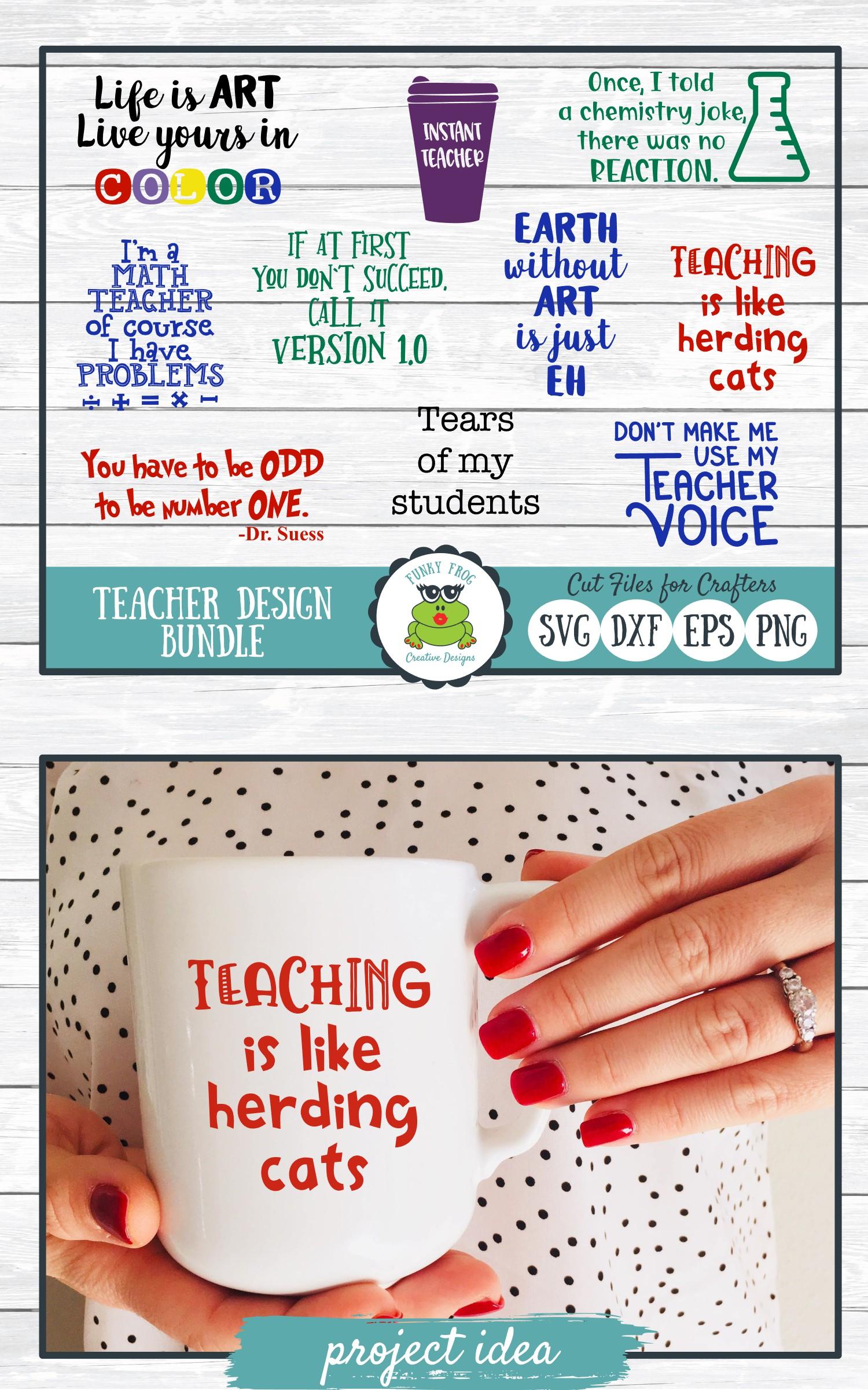 Teacher Designs Bundle- Teacher SVG Cut Files example image 8