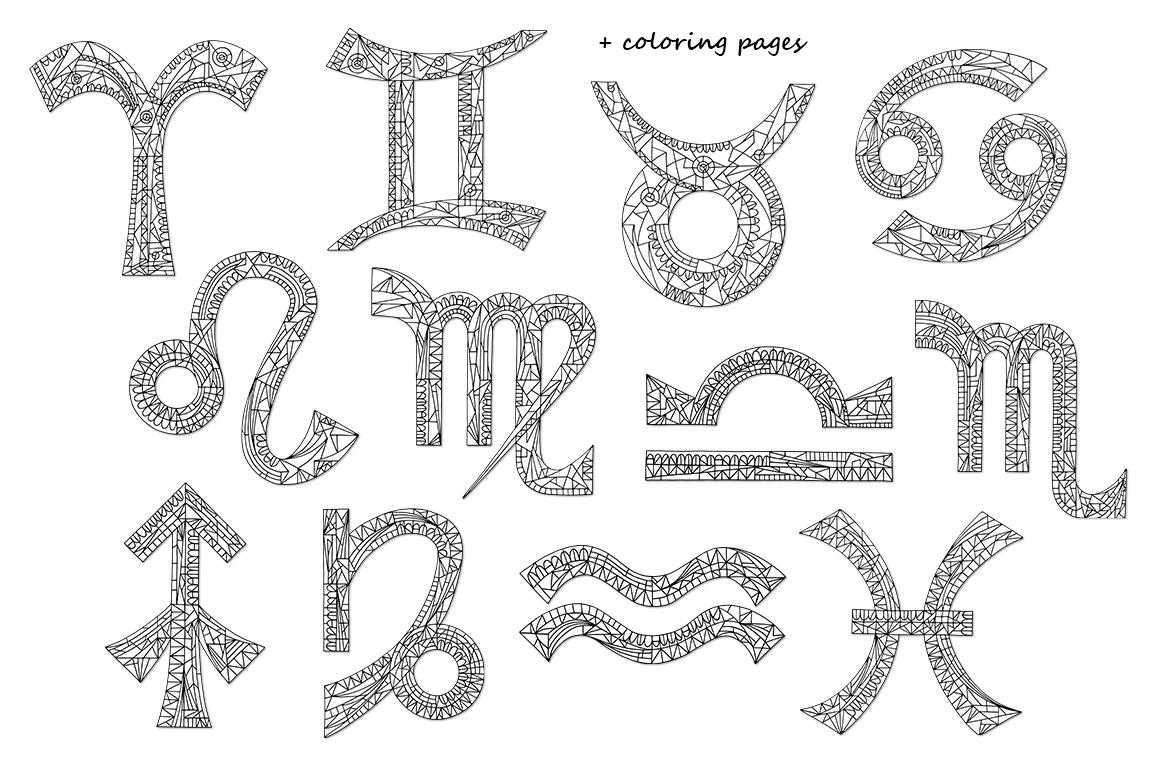 Zodiac signs vector collection example image 8