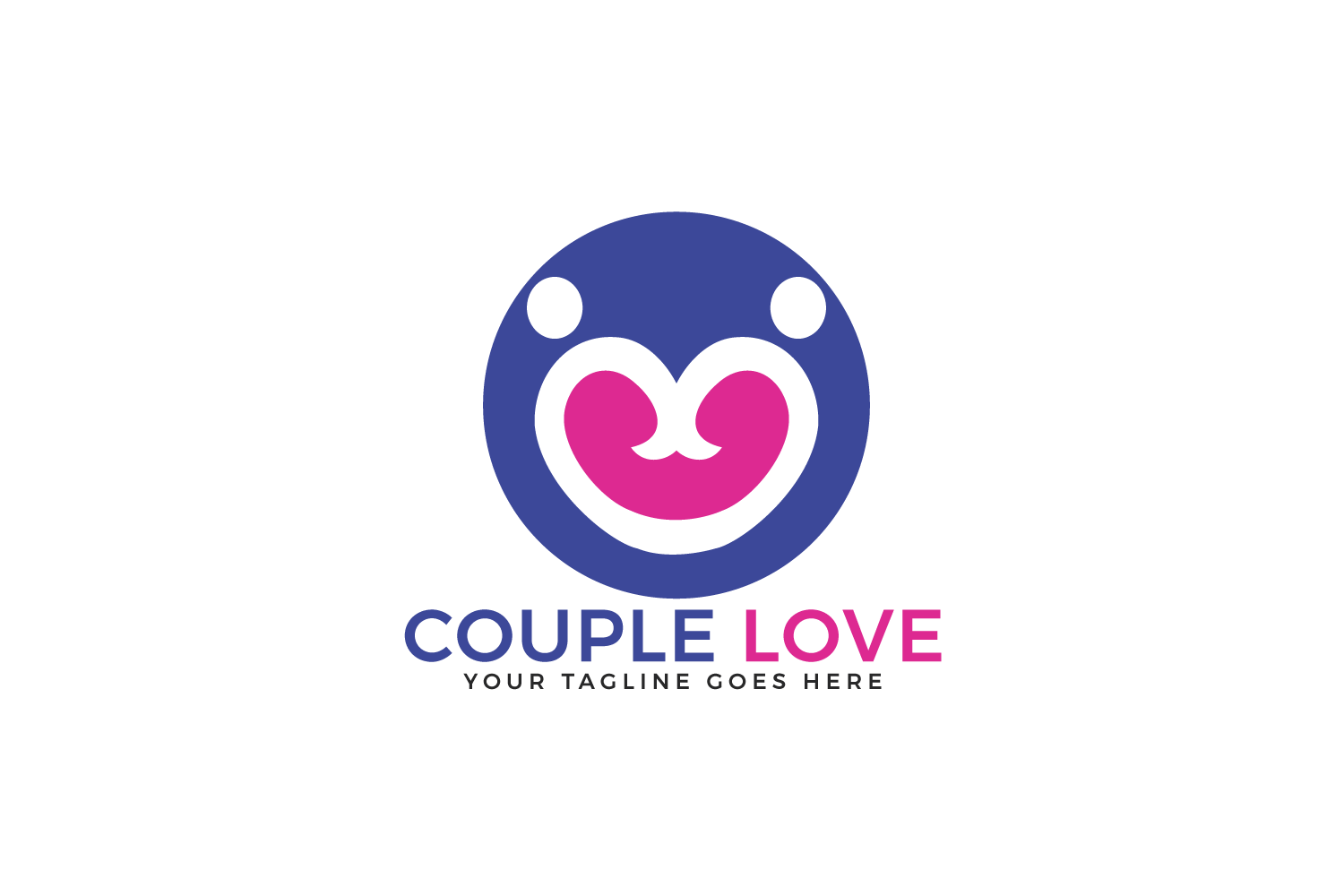 Couple Love Vector Logo Design. example image 2