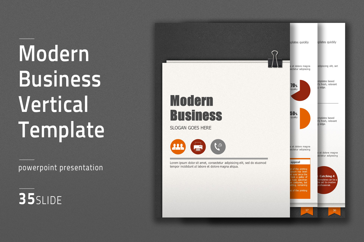 Modern Business Template Vertical example image 1