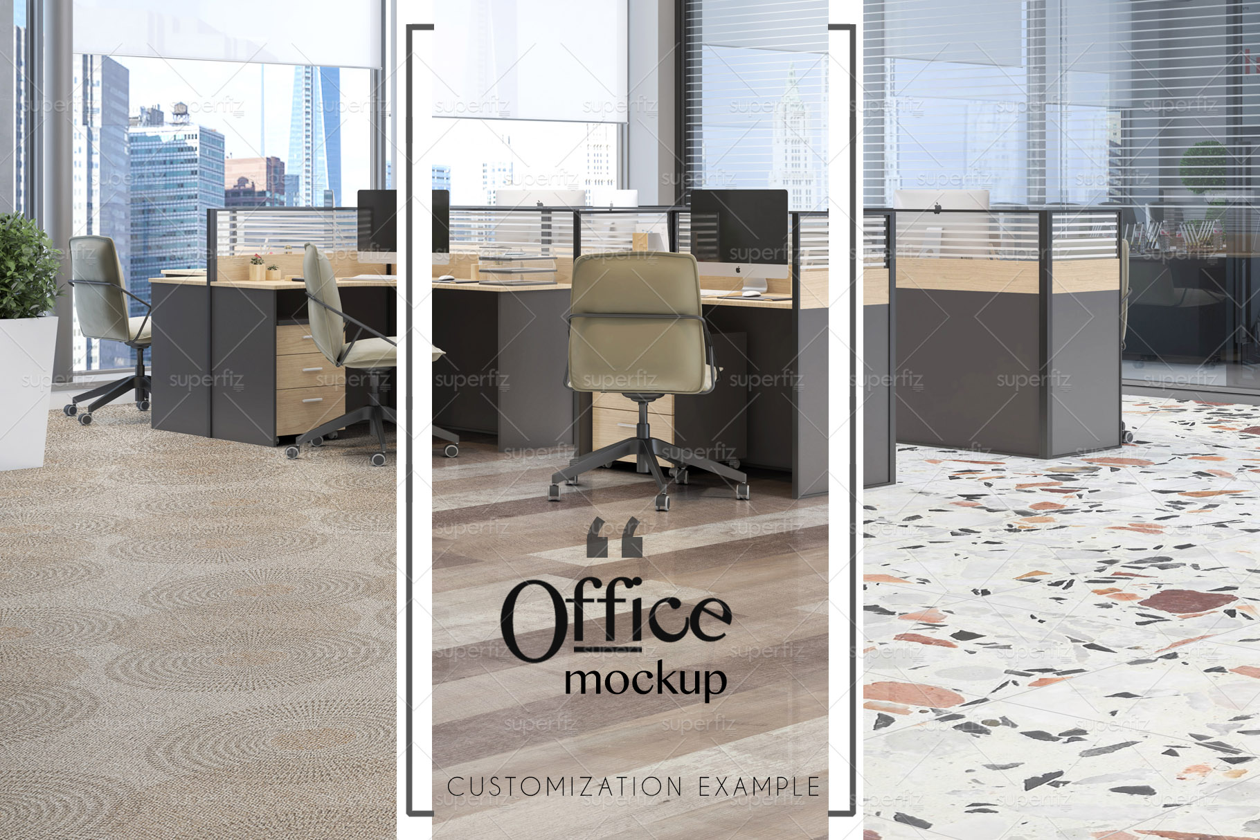 Blank Floor Commercial PSD Mockup SM79 example image 2