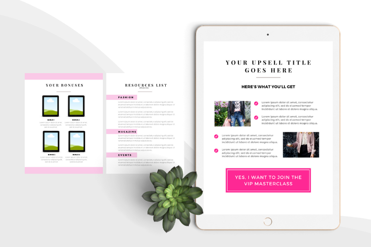 Hot Pink Fashion Canva template Ebook example image 11
