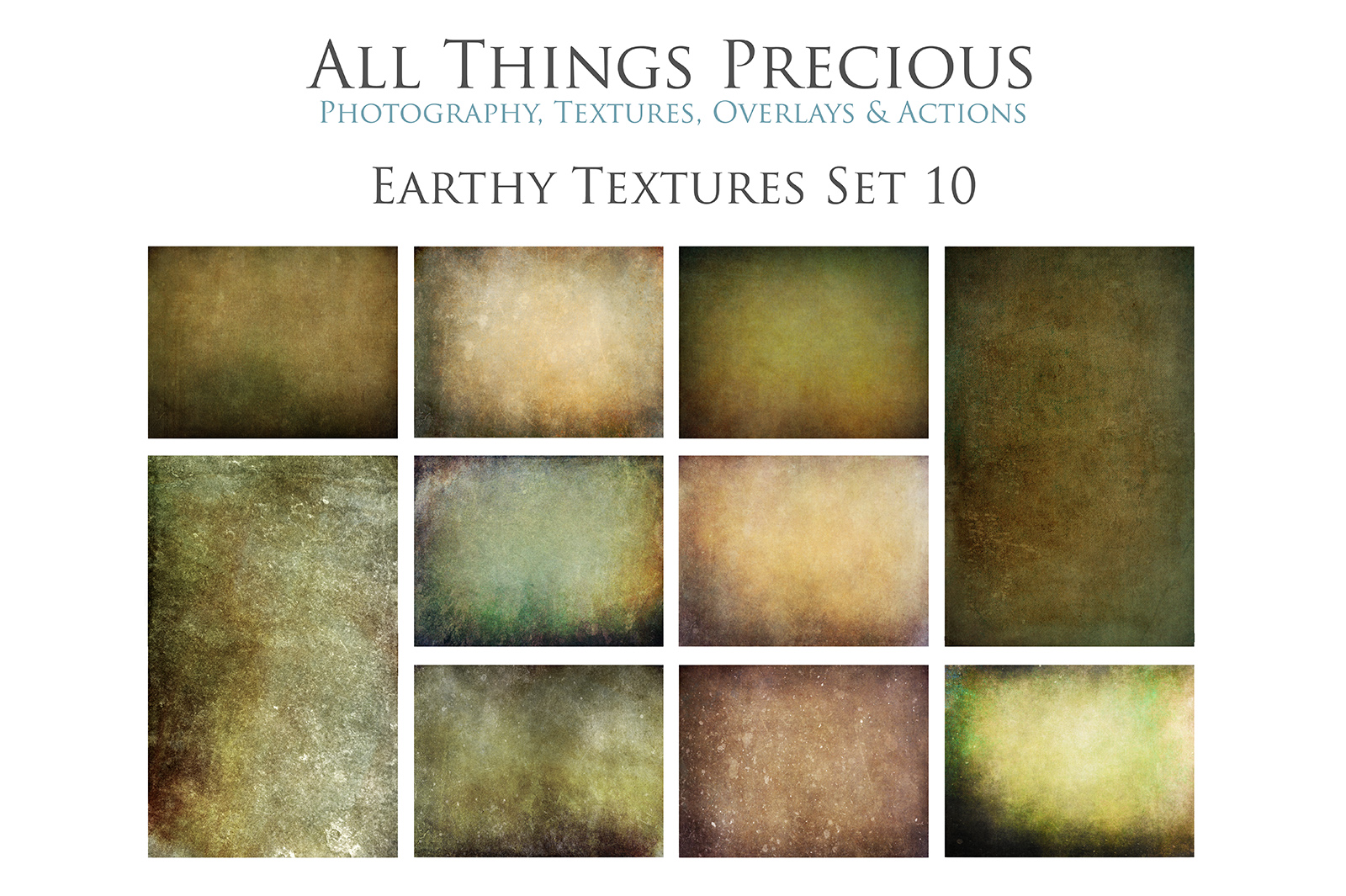 10 Fine Art Earthy Textures SET 10 example image 1