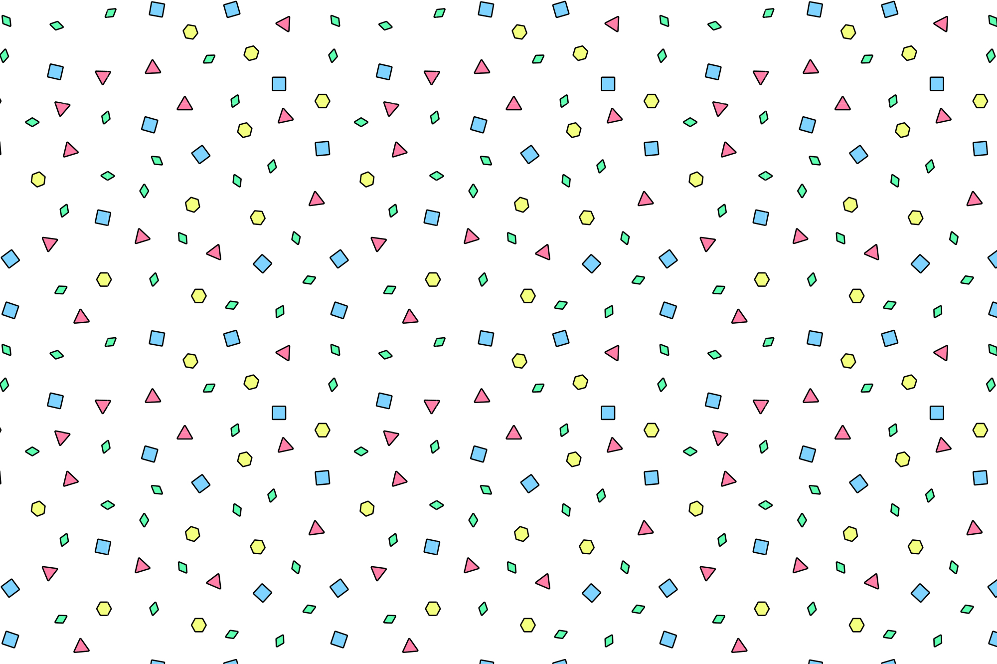 Colorful Memphis Patterns - seamless example image 3