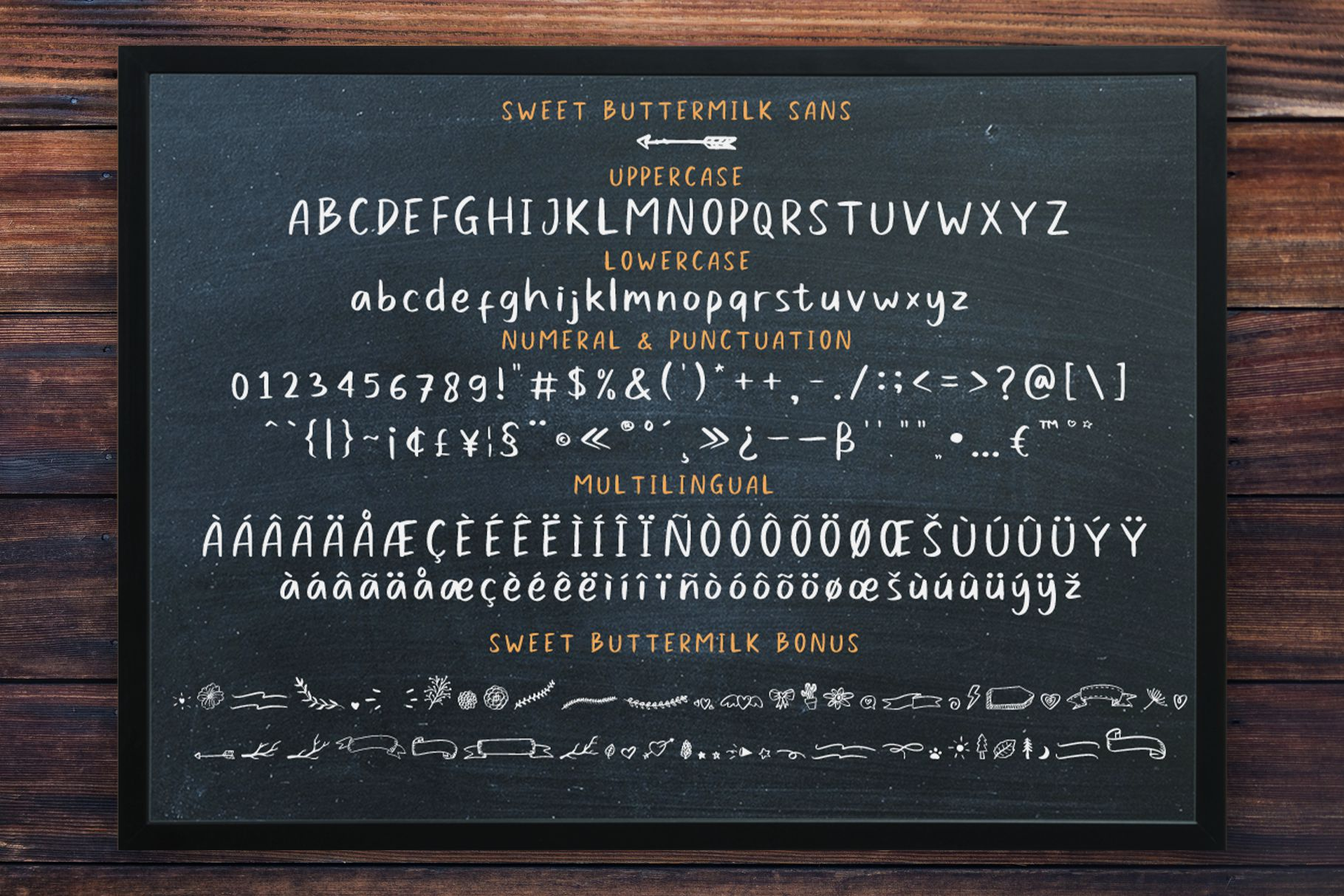 Sweet Buttermilk - Font Duo with Bonus example image 9