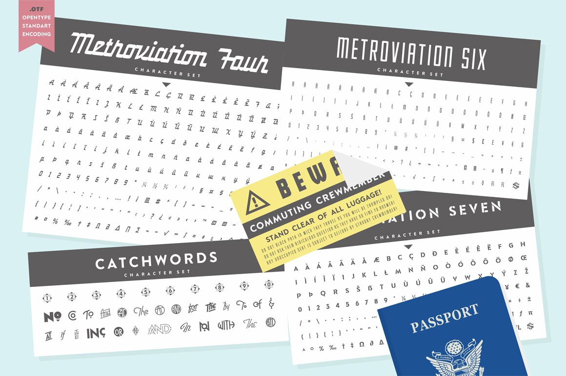 S&S Metroviation Font Bundles example image 5