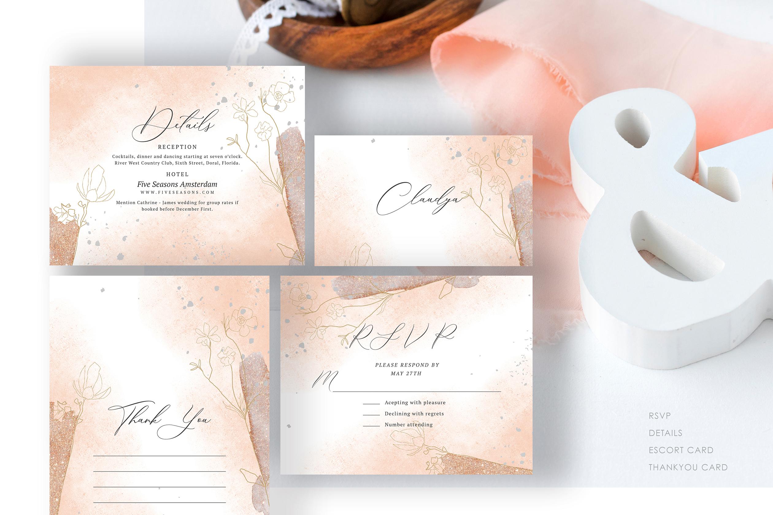 Blush Foliage Wedding Suite example image 3