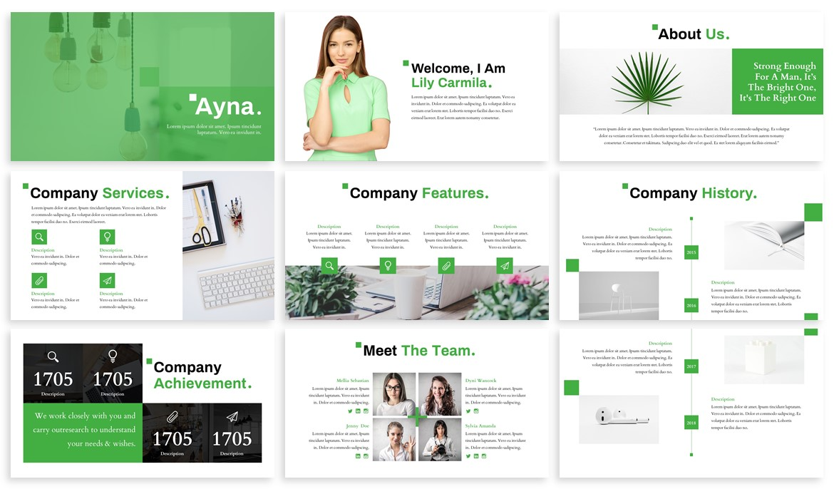 Ayna - Creative Powerpoint Template example image 2