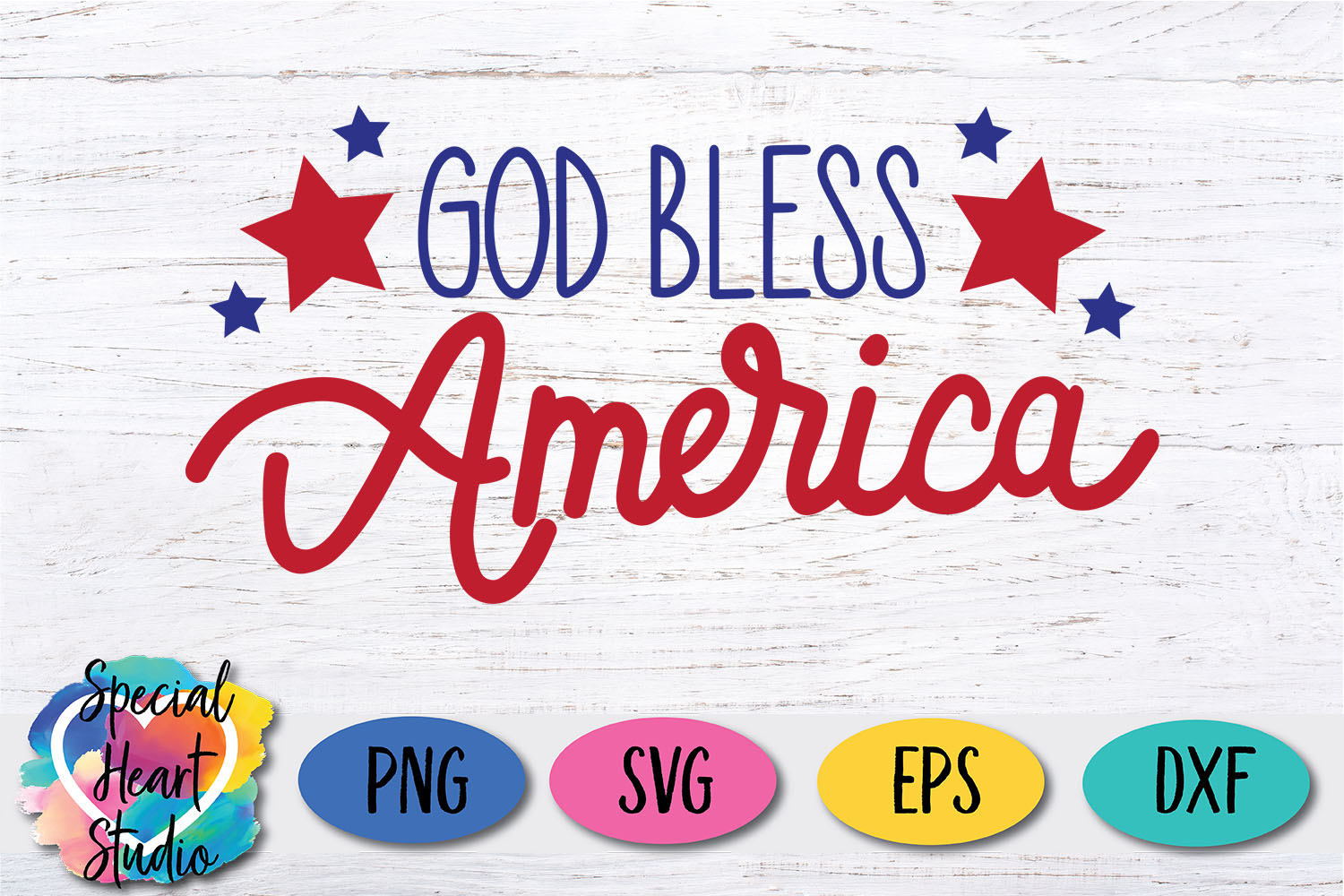 God Bless America - A hand lettered patriotic SVG example image 3