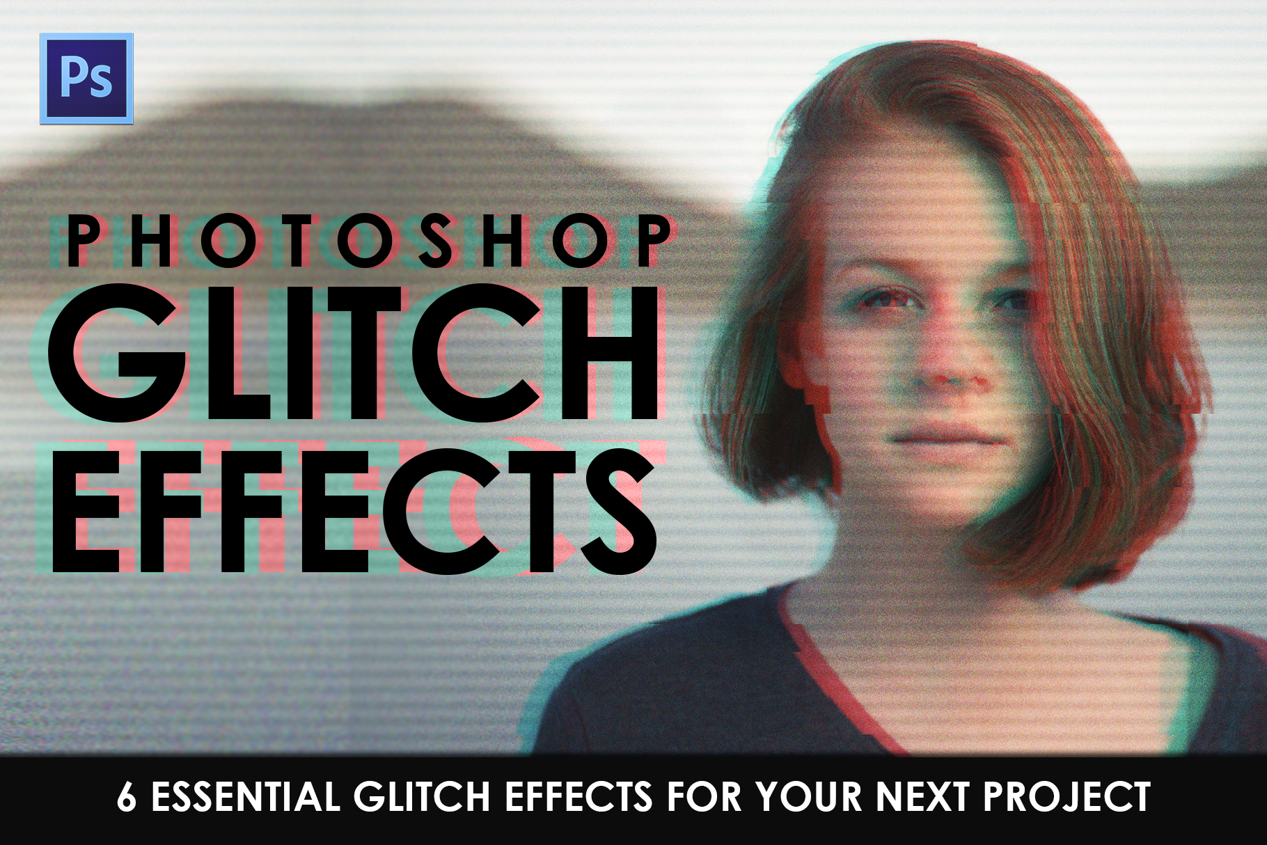 Glitch Effect Photoshop Actions example image 1