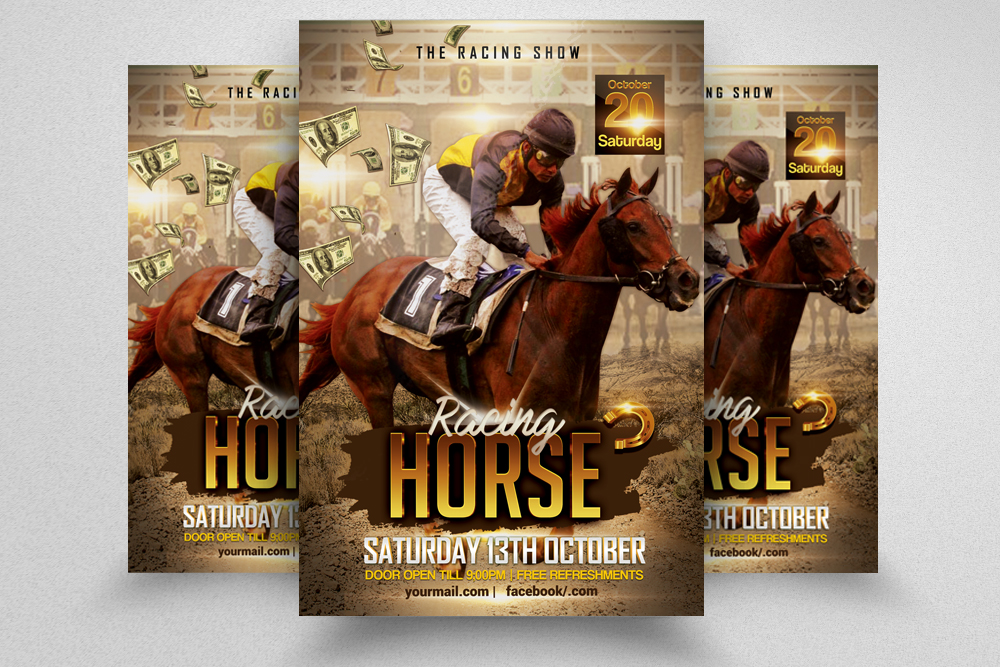 Grand Derby Horse Racing Flyer  example image 1