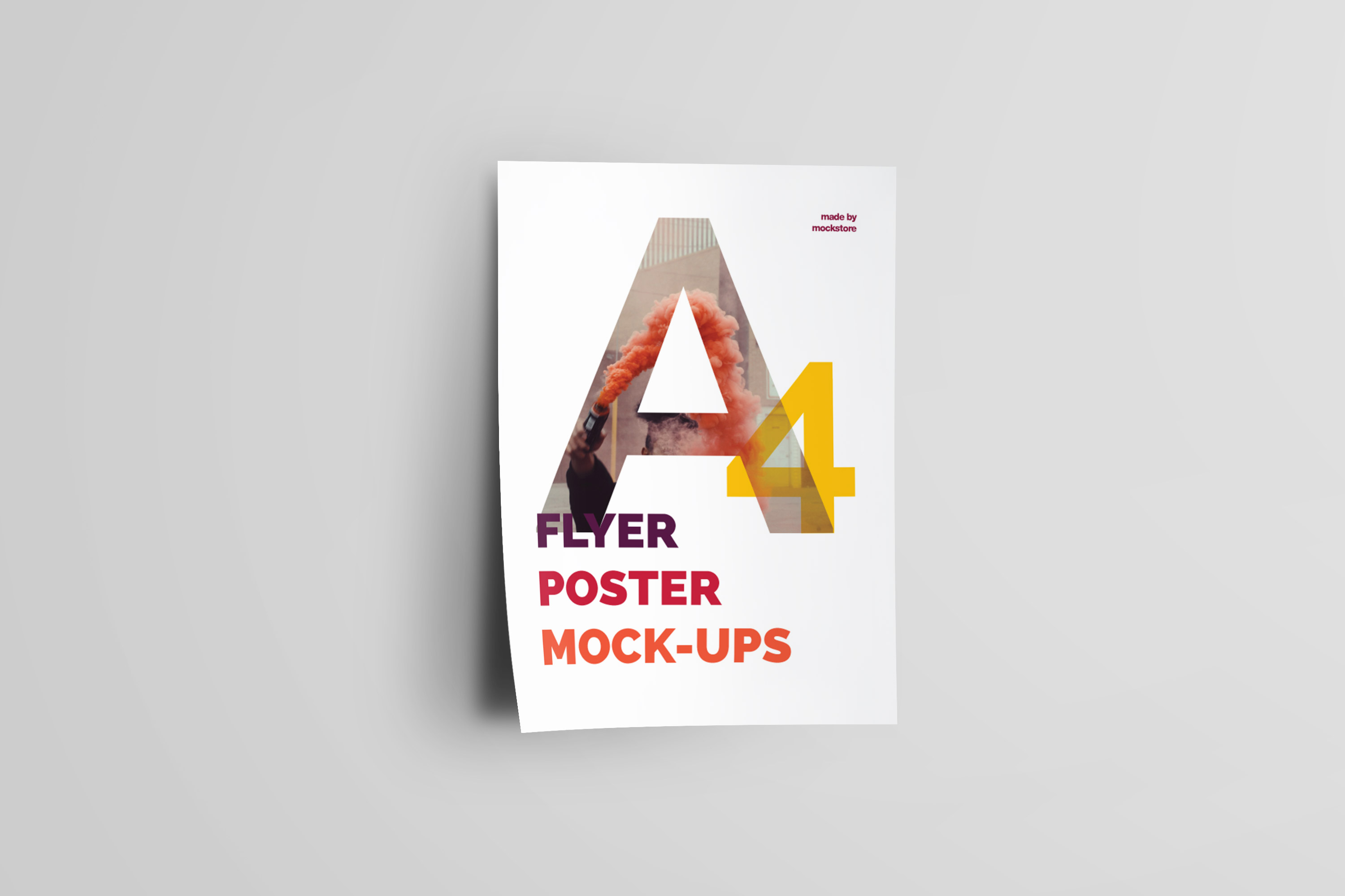 A4 Flyer / Poster Mockups example image 10